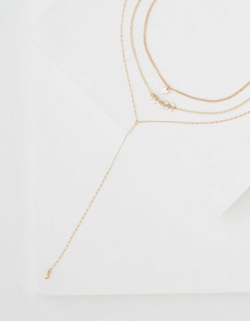 AEO Pearl Lariat Necklace