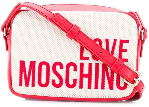 logo embroidered crossbody