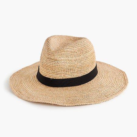 J.Crew: Wide-brim Packable Straw Hat For Women