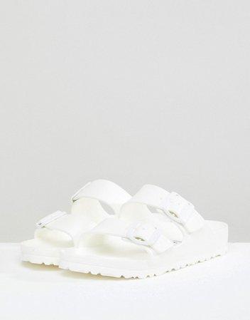 Birkenstock Arizona Eva White Flat Sandals | ASOS
