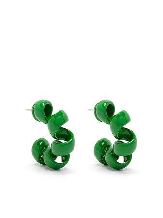 Bottega Veneta Coiled Hoop Earrings - Farfetch
