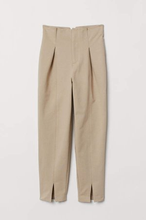 Ankle-length Pants - Brown