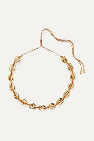 Gold Large Puka gold-plated necklace | Tohum | NET-A-PORTER