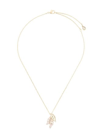 Atelier Swarovski Embellished Leaf Necklace 5520462 Gold | Farfetch