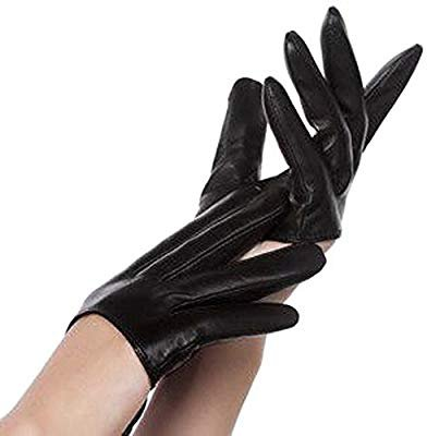 Amazon.com: New Sex and the City Lady Gaga Sexy Black Half-Palm Leather Five Fingers Gloves Size M: Beauty