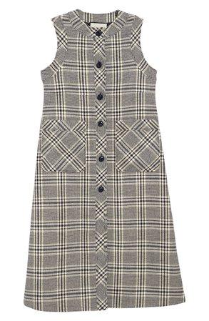 Gucci Check Wool Blend Tweed Midi Dress |