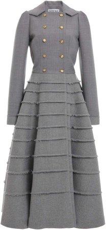 Loewe Tweed A-Line Coat