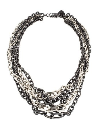 Giles & Brother Crystal Multistrand Chain Necklace - Necklaces - WGI20892 | The RealReal