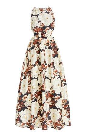 Vivienne Open-Back Floral Silk Maxi Dress By Sir | Moda Operandi