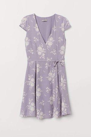 Creped Dress - Purple