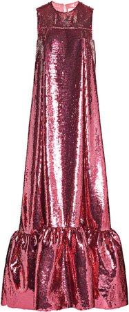 Huishan Zhang Genevieve Sequined Gown