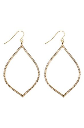 Nordstrom Pavé Cubic Zirconia Geo Hoop Earrings | Nordstrom