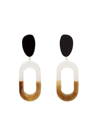 Violeta BY MANGO Resin pendant earrings