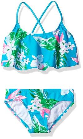 Amazon.com: Kanu Surf Toddler Girls' Alania Flounce Bikini Beach Sport 2 Piece Swimsuit, Floral Aqua, 2T: Clothing