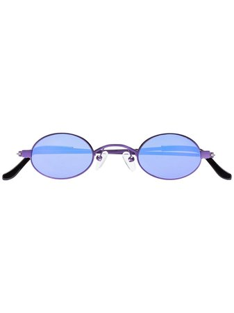 Roberi & Fraud Purple Doris Oval Sunglasses - Farfetch