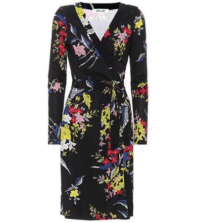 Julian floral-printed silk dress