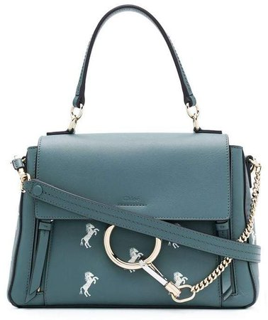 Faye horse embroidery shoulder bag