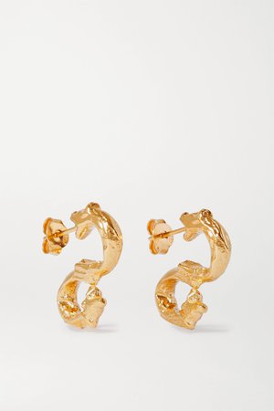 Gold Parola Ornata gold-plated earrings | Alighieri | NET-A-PORTER