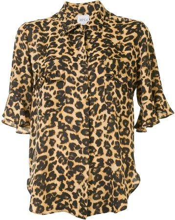 Leopard Print Short-Sleeve Shirt