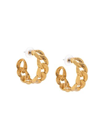 Jennifer Behr Tara Chain Hoop Earrings - Farfetch