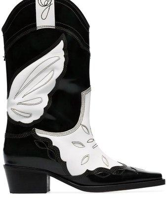 GANNI Texas 40 Cowboy Boots - Farfetch