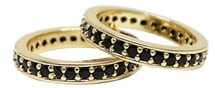 Set of 2 Pave Rings