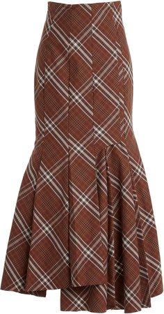 A.W.A.K.E. MODE Printed Cotton Midi Skirt
