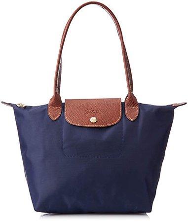 Amazon.com: Longchamp Le Pliage Tote Shoulder Bag, Navy Blue, Medium: Shoes