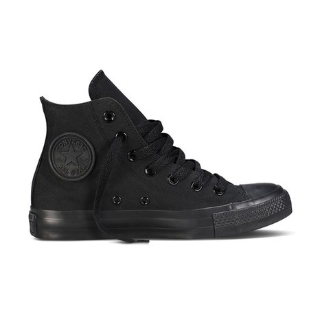Chuck taylor all star mono canvas high top trainers , black, Converse | La Redoute