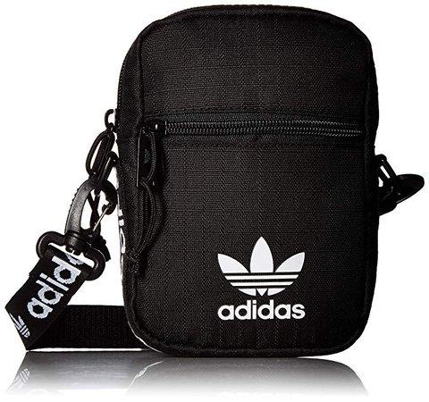Amazon.com | adidas Originals Unisex Festival Bag Crossbody Black/White One Size | Waist Packs