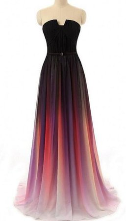 Fading Color Prom Dress Evening Party Gown Formal Wear · bbpromdress · Online Store Powered by Storenvy