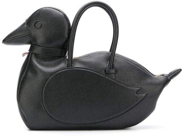 Pebbled Black Duck Icon Bag