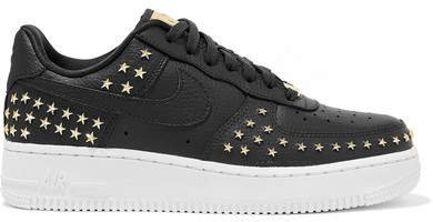 Air Force 1 '07 Lx Embellished Textured-leather Sneakers - Gray