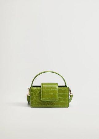 Croc-effect mini bag - Woman | Mango South Korea