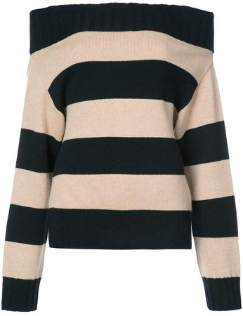 Dorothee striped longsleeved knitted top