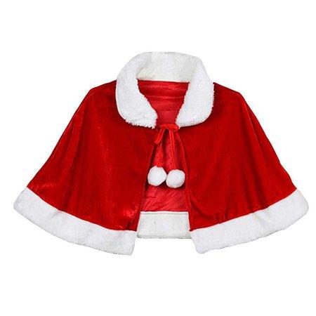 Amazon.com: Gamusi Christmas Velvet Shawl Cloak Cape Mrs Santa Claus Cape Robe Halloween Costume Red for Adults Kids (Adult): Clothing