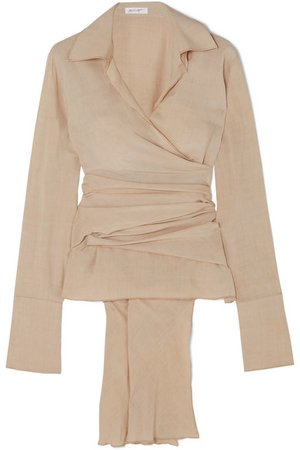 The Line By K   Jett washed-crepe wrap blouse   NET-A-PORTER.COM