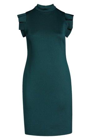 Ruffle Shoulder Open Back Cocktail Dress | Nordstrom
