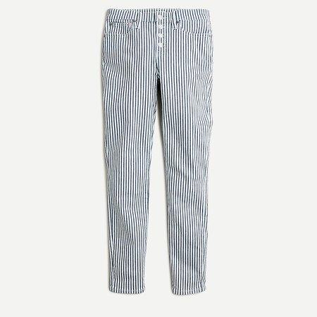 J.Crew: Petite 9 High-rise Toothpick Jean In Stripe For Women
