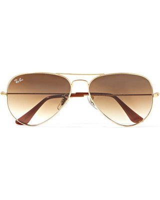 Amazing Deal: Ray-Ban - Aviator Gold-tone Sunglasses