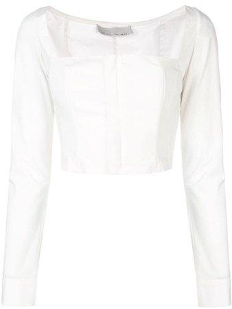 Fleur Du Mal square neck blouse - White