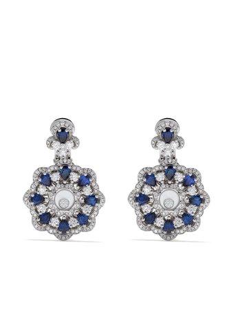 Chopard 18kt White Gold Happy Diamonds Earrings | Farfetch.com