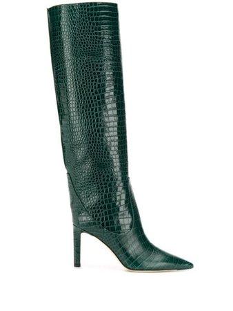 Jimmy Choo Mavis 85 Boots MAVIS85CCL Green | Farfetch