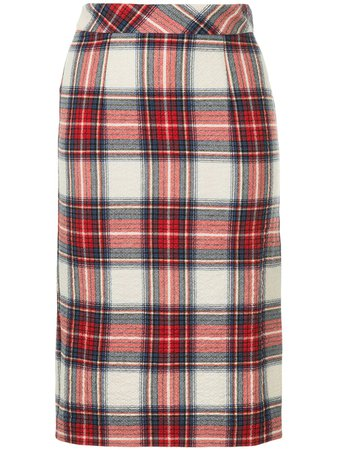 Shop multicolour Boutique Moschino plaid pencil skirt with Express Delivery - Farfetch