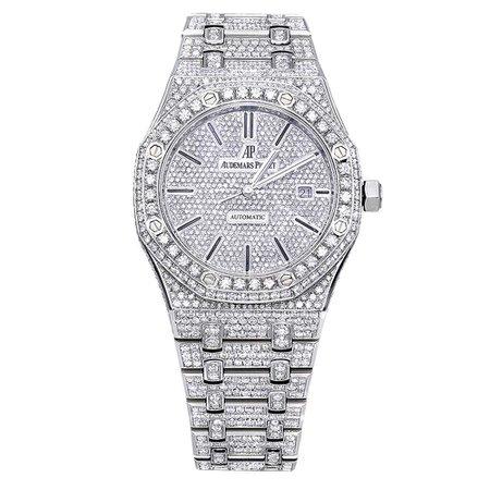 Audemars Piguet Diamond and Silver Watch