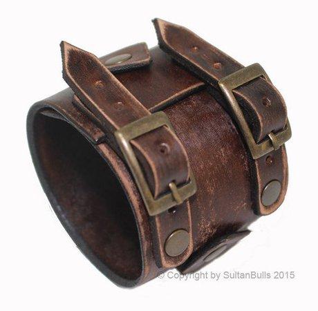 JOHNNY DEPP style leather bracelet genuine leather wristband   Etsy