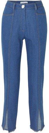 REJINA PYO - Elise High-rise Straight-leg Jeans - Mid denim