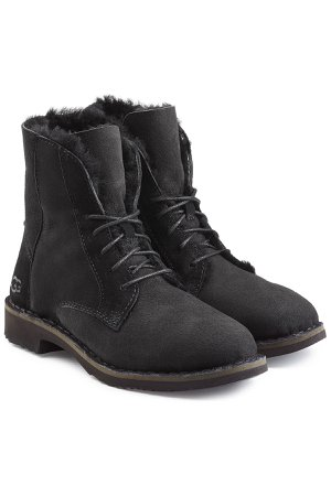 Quincy Suede Lace-Up Boots with Shearling Lining Gr. US 10