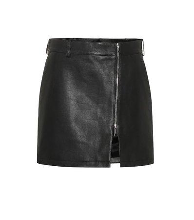 Leather Miniskirt - Burberry | mytheresa