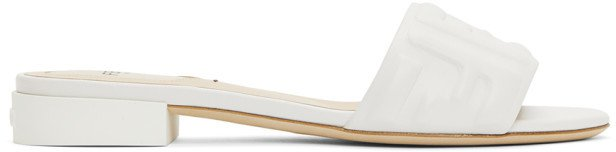 White Leather Forever Sandals